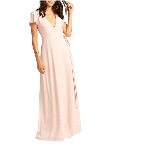 Show Me Your MuMu Dresses & Skirts - NWT Show Me Your Mumu Noelle Wrapdress dusty blush